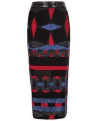 Teatum Jones - Metallic-weave Raffia Pencil Skirt - Lyst