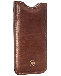 Maxwell Scott Bags Luxury Full Grain Tan Leather Iphone 6 Case - Brown