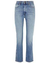 Khaite Victoria Blue Slim-leg Jeans