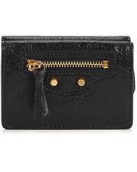 Balenciaga Classic City Mini Black Leather Wallet