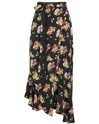 Preen Line - Sibyll Printed Crepe De Chine Wrap Skirt - Lyst