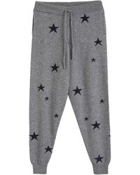 Chinti & Parker Light-grey Star Cashmere Track Trousers