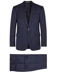 Cifonelli - Monte Carlo Navy Wool Suit - Lyst
