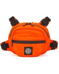 Stone Island - Fluorescent Orange Belt Bag - Lyst