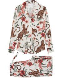 Desmond & Dempsey Soleia Printed Cotton Pyjama Set - Multicolour