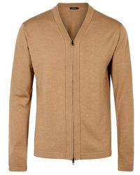 J.Lindeberg | File Wool And Silk Blend Cardigan | Lyst