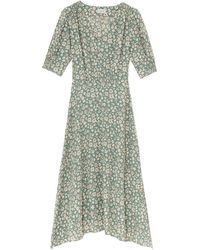 Jigsaw Viscose Primrose Tea Dress - Green