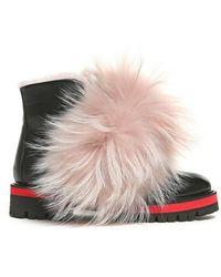 Mr & Mrs Italy - Biker Boot Calf Leather Mink Murmasky Merinillo Fur - Lyst