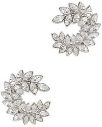Kenneth Jay Lane - Crystal-embellished Clip-on Earrings - Lyst