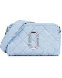 Marc Jacobs The Softshot 21 Light Blue Leather Cross-body Bag