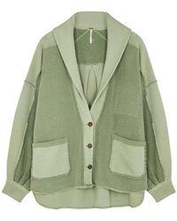 Free People Jordan Light Green Cotton-blend Jacket