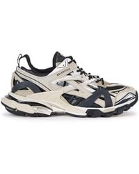 Balenciaga Track.2 Trainers In Neoprene And Rubber - Natural