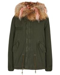 Mr & Mrs Italy - Army Green Fur-lined Cotton Parka - Lyst