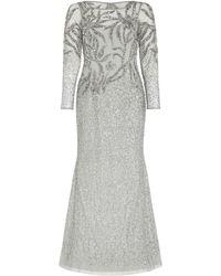 Adrianna Papell Beaded Long Dress - Multicolour