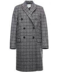 House of Dagmar Isabelle Woven Coat - Grey
