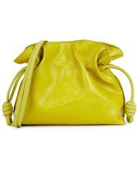Loewe Flamenco Yellow Patent Leather Clutch