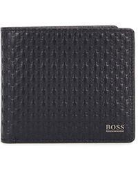 BOSS by Hugo Boss Crosstown Navy Leather Wallet - Blue