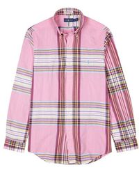 Polo Ralph Lauren - Pink Checked Cotton Shirt - Lyst