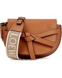 Loewe Gate Dual Mini Brown Leather Cross-body Bag