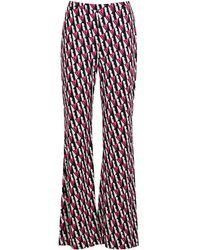 Diane von Furstenberg Caspian Logo Silk-jersey Trousers - Pink