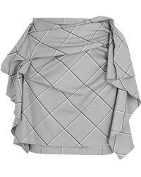 Carmen March - Checked Ruffled Wool-blend Mini Skirt - Lyst
