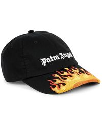 Palm Angels Flames Logo Cap - Black