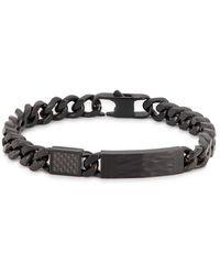 Tateossian Large Matte Black Chain Bracelet
