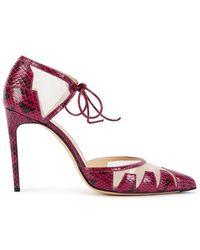 Bionda Castana - Lana Purple Panelled Elaphe Leather Court Shoes - Lyst
