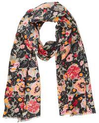 Jigsaw Wild Bouquet Wool Silk Scarf - Multicolour