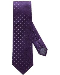 Eton of Sweden - Purple Polka Dot Silk Tie - Lyst