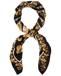 Versace - Barocco-print Silk Twill Scarf - Lyst