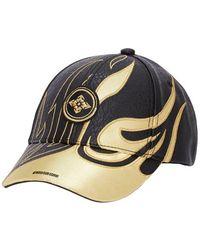 Evisu Gold Flame Cap With Kamon Badge - Black