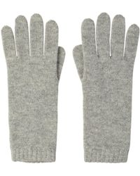Johnstons Womens Cashmere Gloves - Grey