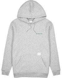 MKI Miyuki-Zoku Grey Hooded Cotton-blend Sweatshirt