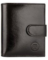 Maxwell Scott Bags Pietre Small Wallet - Black