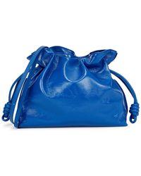 Loewe Flamenco Blue Patent Leather Clutch