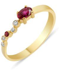 GFG Jewellery by Nilufer Seraphina Wing Ring - Metallic