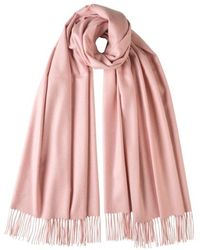 Johnstons - Light Pink Classic Cashmere Stole - Lyst