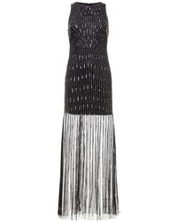 Adrianna Papell - Beaded Fringe Dress - Lyst