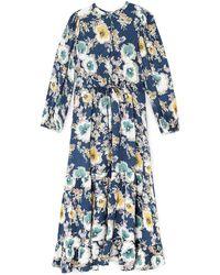 Jigsaw Vintage Floral Tiered Dress - Blue