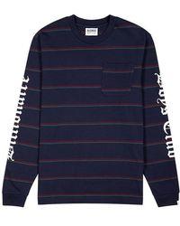 BBCICECREAM - Navy Striped Cotton Top - Lyst