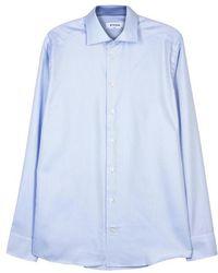 Eton of Sweden - Light Blue Slim Cotton Shirt - Size 15.5 - Lyst