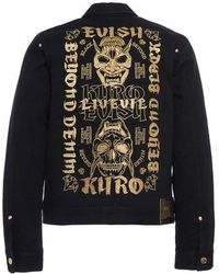eb0d7f2175eb Dsquared² Japan Embroidery Distressed Denimjacket in Blue for Men - Lyst