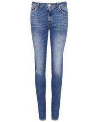 American Vintage - Blue Skinny Jeans - Size W27 - Lyst