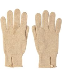 Johnstons Button Loop Womens Cashmere Gloves Natural