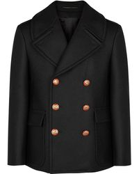 Givenchy Coat With Decorative Buttons - Black