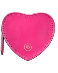Maxwell Scott Bags Women S Hot Pink Leather Italian Heart Coin Purse