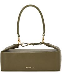 Rejina Pyo Olivia Army Green Leather Top Handle Bag
