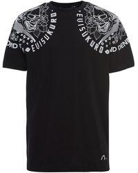 Evisu Kuro Devil Print T-shirt - Black