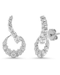 The Alkemistry Colette 18ct White Gold And Diamond Crescent Moon Ear Climbers (pair)